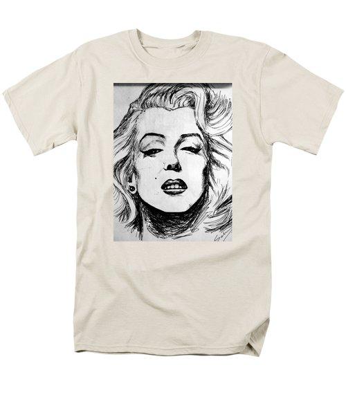 Men's T-Shirt  (Regular Fit) featuring the painting Marilyn Monroe by Salman Ravish