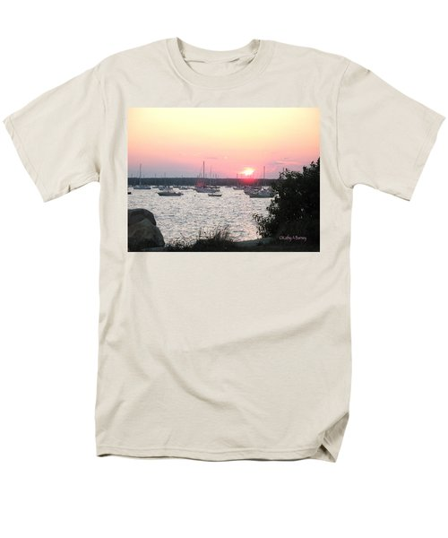 Men's T-Shirt  (Regular Fit) featuring the photograph Marion Massachusetts Bay by Kathy Barney