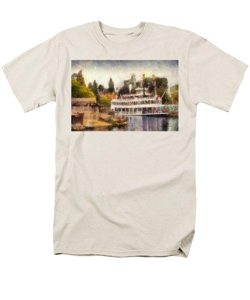 Mark Twain Riverboat Frontierland Disneyland Photo Art 02 Men's T-Shirt  (Regular Fit) by Thomas Woolworth