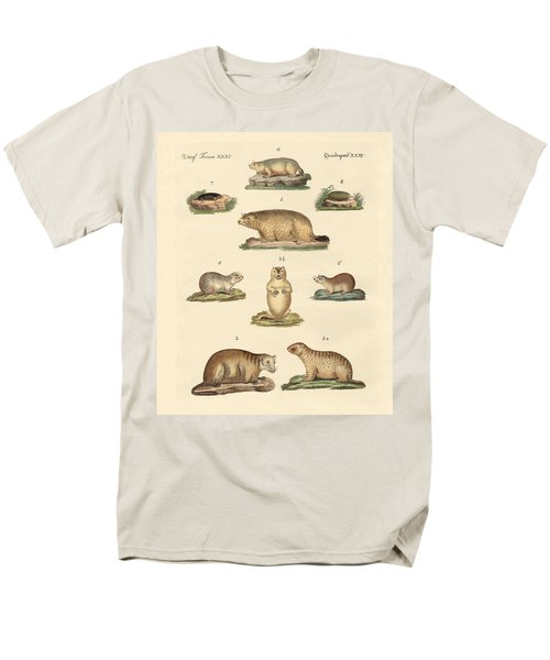 Marmots And Moles Men's T-Shirt  (Regular Fit) by Splendid Art Prints