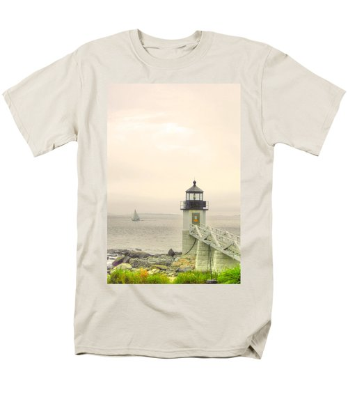Marshall Point Lighthouse In Maine Men's T-Shirt  (Regular Fit) by Denyse Duhaime