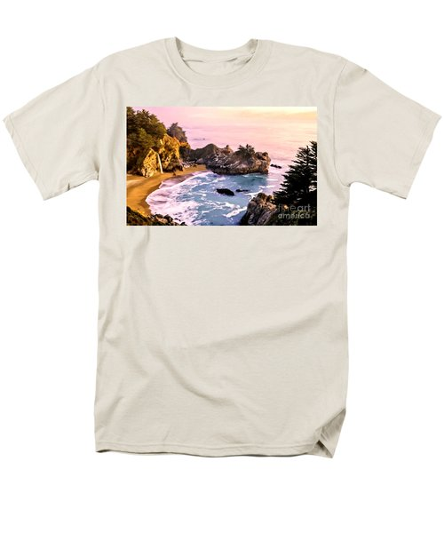 Mcway Falls Pacific Coast Men's T-Shirt  (Regular Fit) by Bob and Nadine Johnston