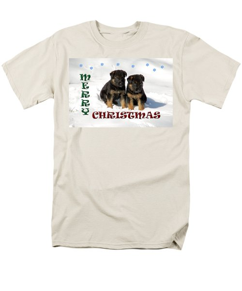 Merry Christmas Puppies Men's T-Shirt  (Regular Fit) by Aimee L Maher Photography and Art Visit ALMGallerydotcom