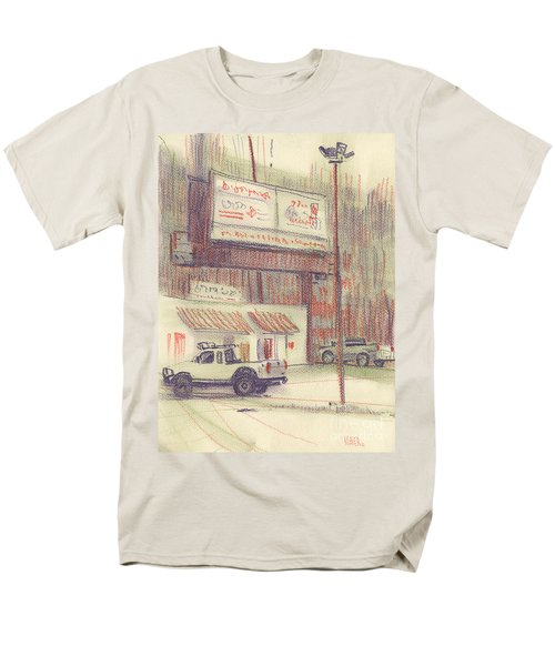 Men's T-Shirt  (Regular Fit) featuring the painting Mexican Take Out by Donald Maier