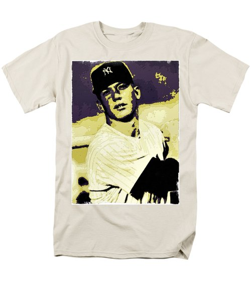 Mickey Mantle Poster Art Men's T-Shirt  (Regular Fit) by Florian Rodarte