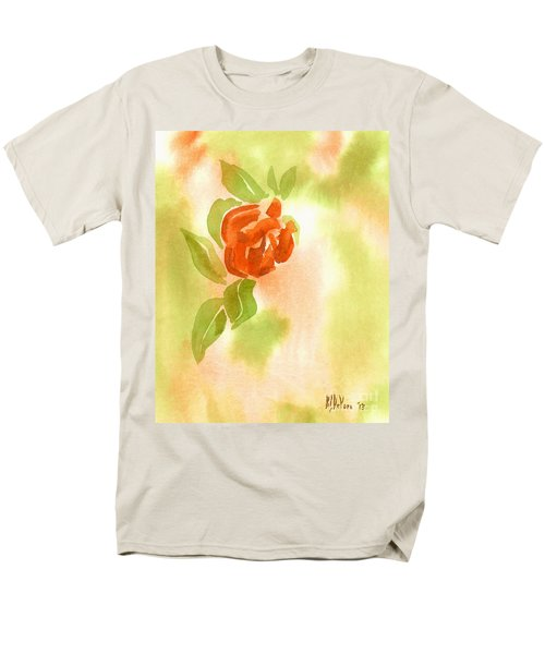Men's T-Shirt  (Regular Fit) featuring the painting Miniature Red Rose II by Kip DeVore