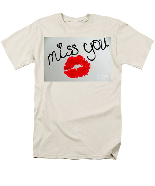 Men's T-Shirt  (Regular Fit) featuring the painting Miss You  by Marisela Mungia