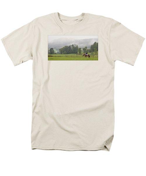 Men's T-Shirt  (Regular Fit) featuring the photograph Misty Morning Ride by Joan Davis