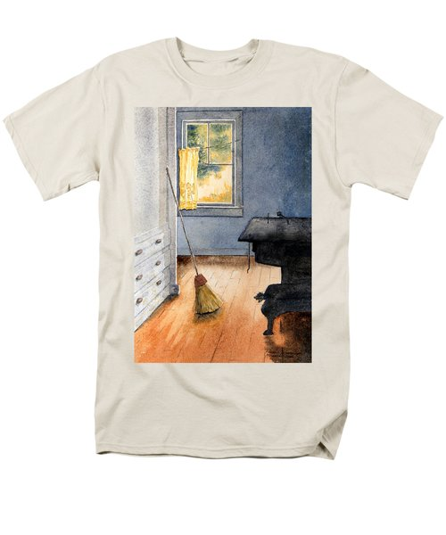 Men's T-Shirt  (Regular Fit) featuring the painting Monhegan Kitchen by Roger Rockefeller