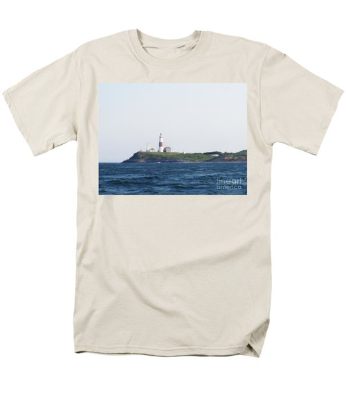 Montauk Lighthouse From The Atlantic Ocean Men's T-Shirt  (Regular Fit) by John Telfer