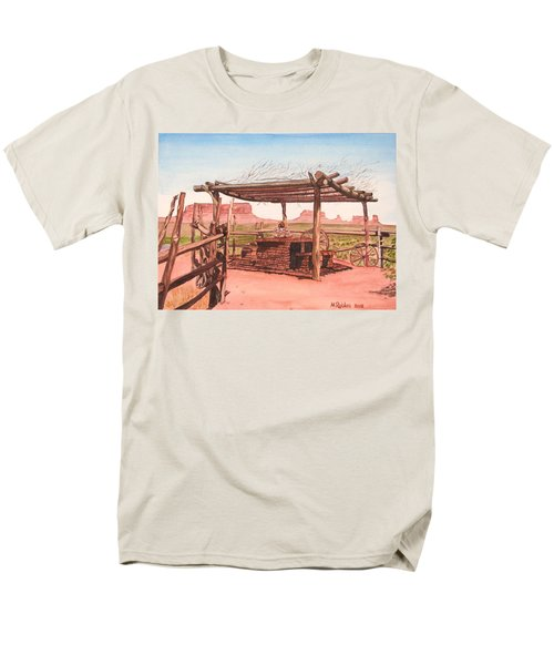 Monument Valley Overlook Men's T-Shirt  (Regular Fit) by Mike Robles