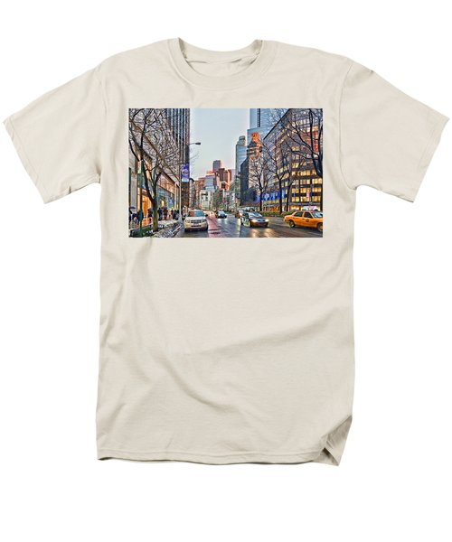 Moody Afternoon In New York City Men's T-Shirt  (Regular Fit) by Jeffrey Friedkin