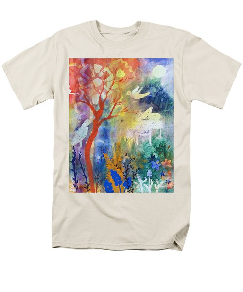 Men's T-Shirt  (Regular Fit) featuring the painting Moonlight Serenade by Robin Maria Pedrero