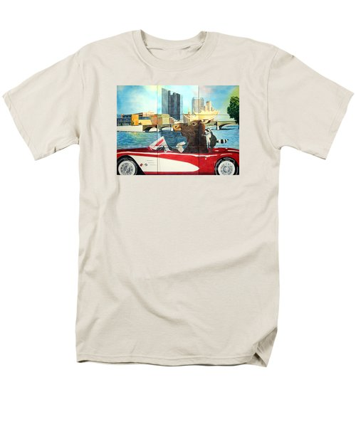 Men's T-Shirt  (Regular Fit) featuring the painting Moose Rapids Il by LeAnne Sowa