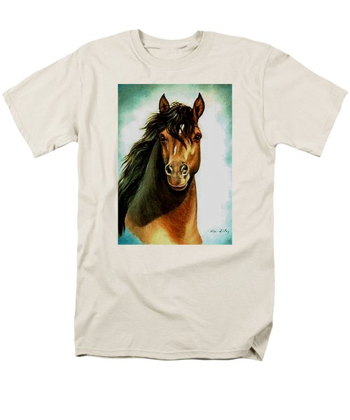 Men's T-Shirt  (Regular Fit) featuring the painting Morgan Horse by Loxi Sibley