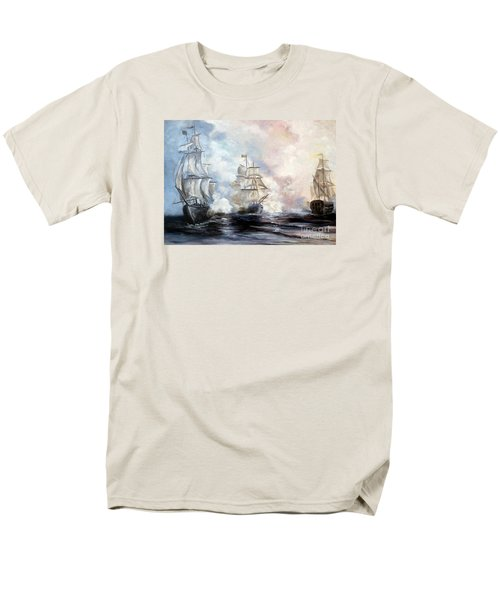 Men's T-Shirt  (Regular Fit) featuring the painting Morning Battle by Lee Piper