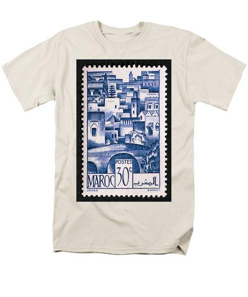 Morocco Vintage Postage Stamp Men's T-Shirt  (Regular Fit) by Andy Prendy