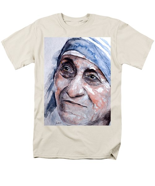 Mother Theresa Watercolor Men's T-Shirt  (Regular Fit) by Laur Iduc