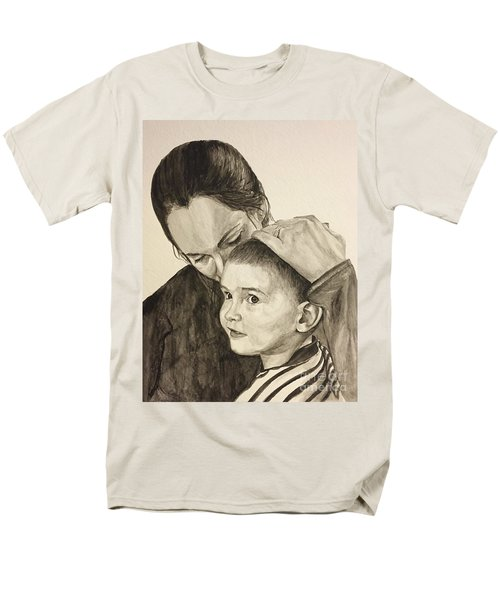 Men's T-Shirt  (Regular Fit) featuring the painting Mother's Love by Tamir Barkan