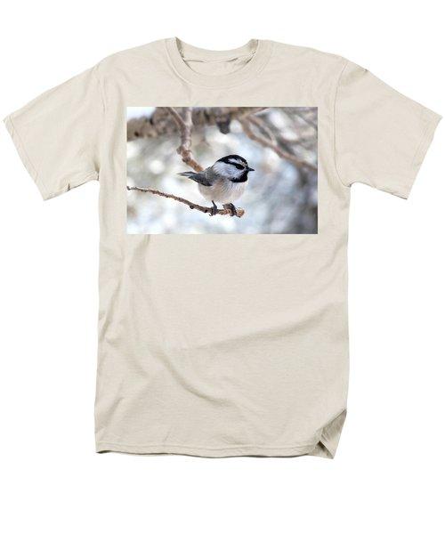 Mountain Chickadee On Branch Men's T-Shirt  (Regular Fit) by Marilyn Burton