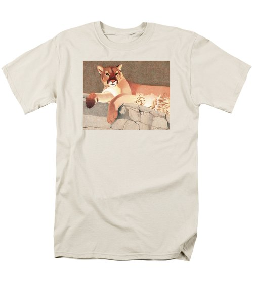 Mountain Lion Men's T-Shirt  (Regular Fit) by Dan Miller