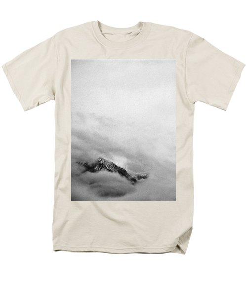 Mountain Peak In Clouds Men's T-Shirt  (Regular Fit) by Peter v Quenter