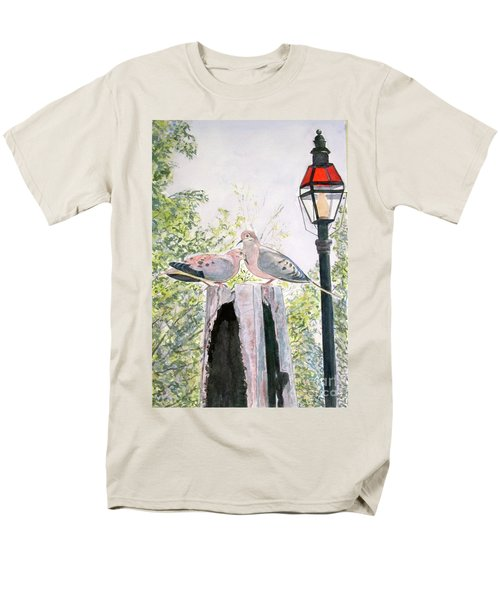 Men's T-Shirt  (Regular Fit) featuring the painting Mourning Doves by Carol Flagg