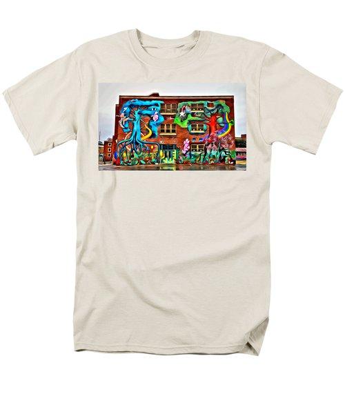 Mural On School Men's T-Shirt  (Regular Fit) by Alice Gipson