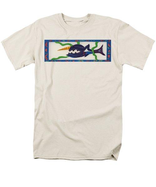 Men's T-Shirt  (Regular Fit) featuring the sculpture My First Fish Dinner by Robert Margetts