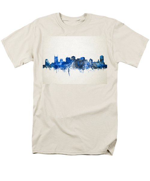 Nashville Skyline Watercolor 11 Men's T-Shirt  (Regular Fit)