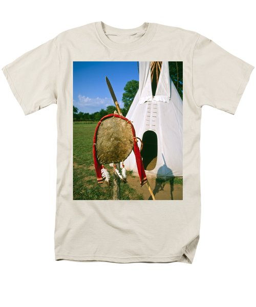 Native American Shield And Spear Men's T-Shirt  (Regular Fit)