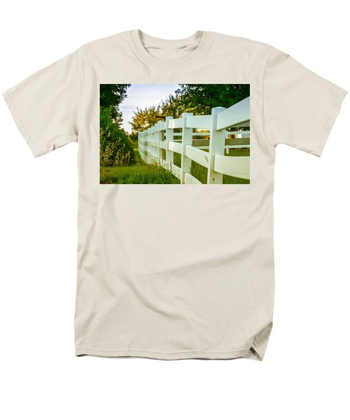 New England Fenceline Men's T-Shirt  (Regular Fit) by Brian Caldwell