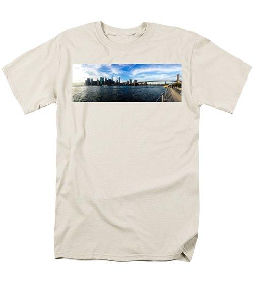 New York Skyline - Color Men's T-Shirt  (Regular Fit) by Nicklas Gustafsson