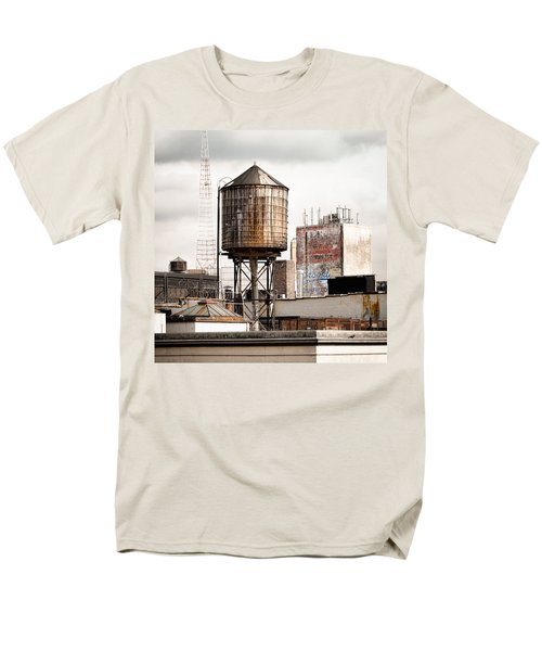 New York Water Tower 16 Men's T-Shirt  (Regular Fit) by Gary Heller
