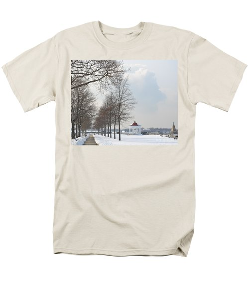 Men's T-Shirt  (Regular Fit) featuring the photograph Newport Waterfront by Angela DeFrias