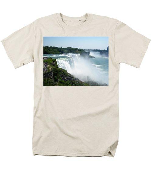Niagara Falls Men's T-Shirt  (Regular Fit) by Aimee L Maher Photography and Art Visit ALMGallerydotcom