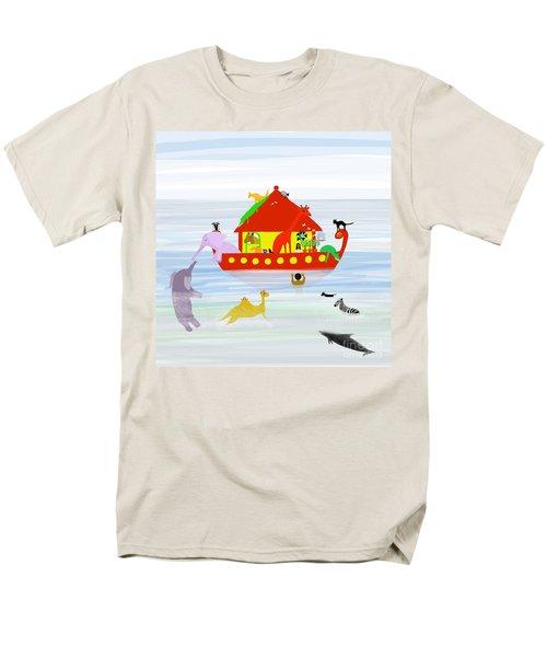 Noah's Ark Men's T-Shirt  (Regular Fit) by Barbara Moignard