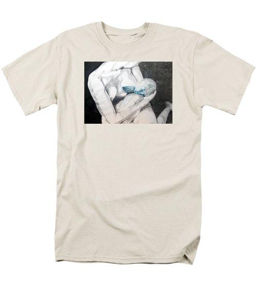 Men's T-Shirt  (Regular Fit) featuring the painting Nurturing The Sea by Lazaro Hurtado