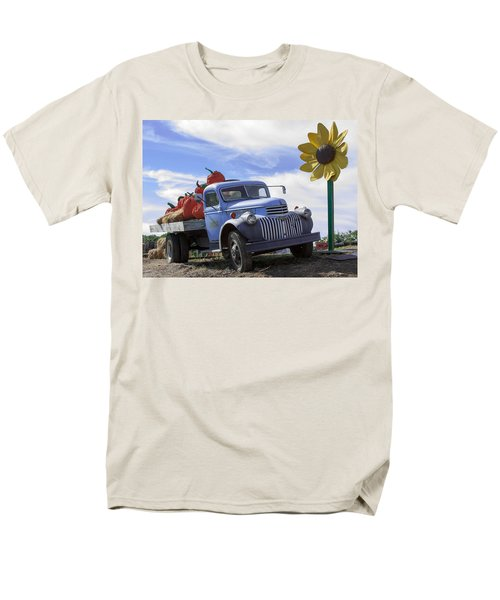 Men's T-Shirt  (Regular Fit) featuring the photograph Old Blue Farm Truck  by Patrice Zinck