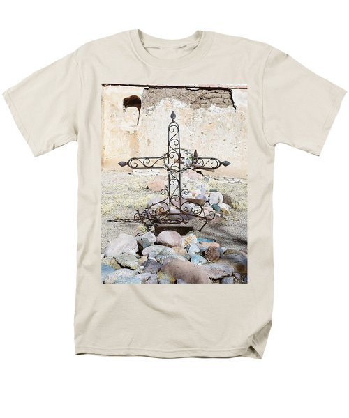 Men's T-Shirt  (Regular Fit) featuring the photograph Old Gravestone Marker by Kerri Mortenson