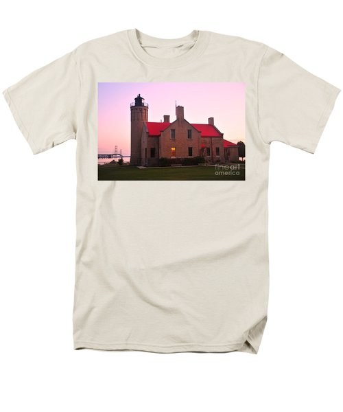 Men's T-Shirt  (Regular Fit) featuring the photograph Old Mackinac Point Lighthouse by Terri Gostola