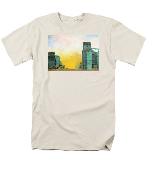 Old Used Grain Elevator Men's T-Shirt  (Regular Fit) by Janette Boyd
