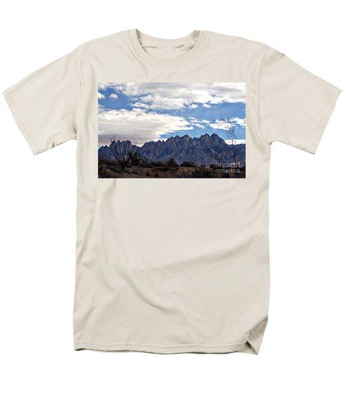 Organ Mountain Landscape Men's T-Shirt  (Regular Fit) by Barbara Chichester