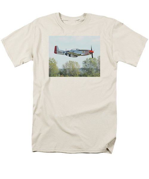 P-51d Mustang Shangrila Men's T-Shirt  (Regular Fit) by Alan Toepfer