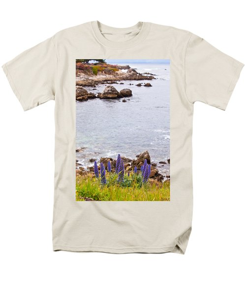 Pacific Grove Coastline Men's T-Shirt  (Regular Fit) by Melinda Ledsome