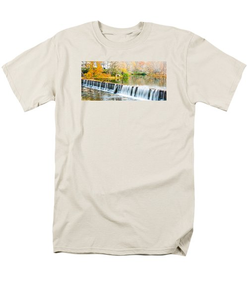 Panorama Of Buck Creek In Autumn Men's T-Shirt  (Regular Fit) by Parker Cunningham