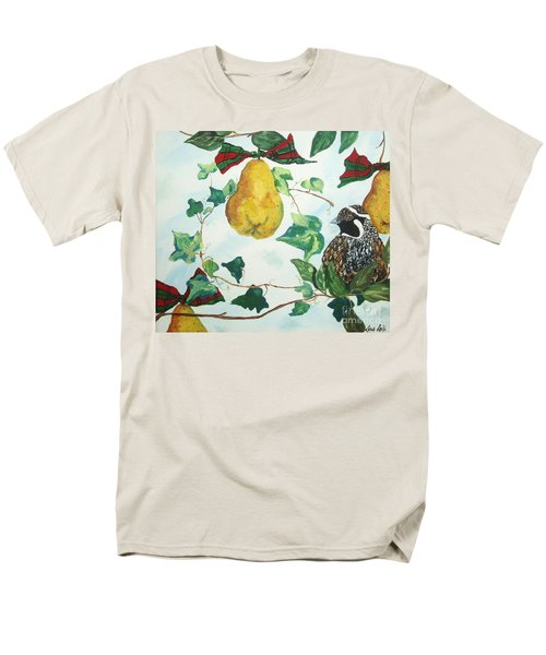 Men's T-Shirt  (Regular Fit) featuring the painting Partridge And  Pears  by Reina Resto