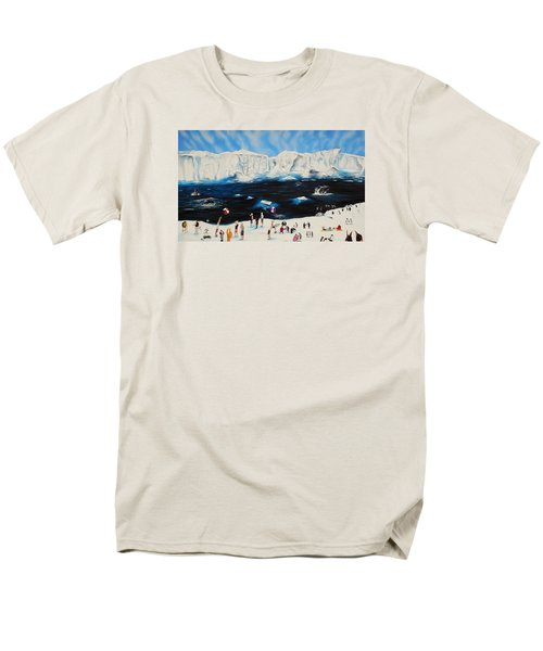 Party At Antarctic Men's T-Shirt  (Regular Fit) by Raymond Perez
