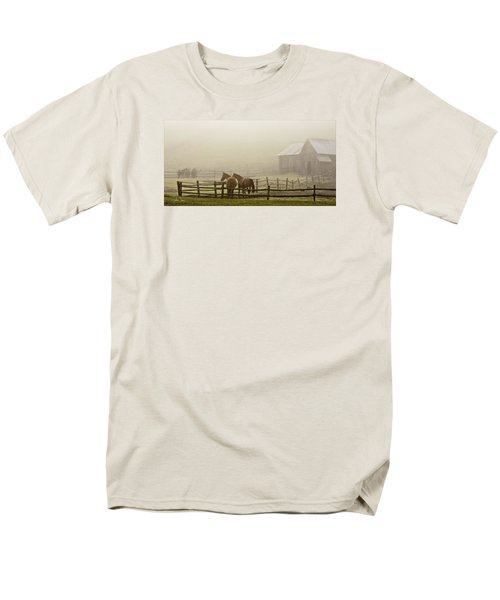 Men's T-Shirt  (Regular Fit) featuring the photograph Patiently Waiting by Joan Davis