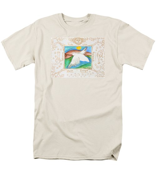 Men's T-Shirt  (Regular Fit) featuring the painting Peace Of Heaven by Cassie Sears